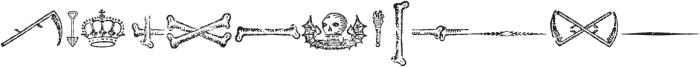 Antique Macabre Ornaments Regular otf (400) Font UPPERCASE