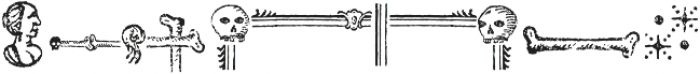 Antique Macabre Ornaments Regular otf (400) Font LOWERCASE