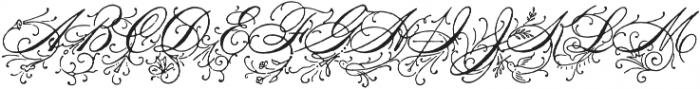 Antique Spenserian Ornamented otf (400) Font UPPERCASE