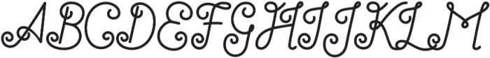 Antiqueline Regular otf (400) Font UPPERCASE