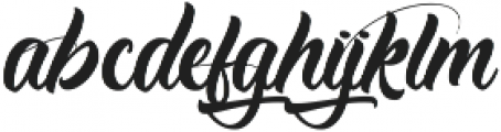 Antishbusy ttf (400) Font LOWERCASE