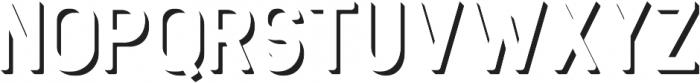 Antone Extrude ttf (400) Font UPPERCASE