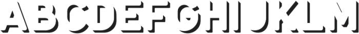 Antone Extrude ttf (400) Font LOWERCASE