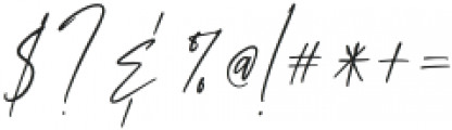 AnxietySignature otf (400) Font OTHER CHARS
