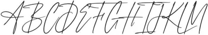 AnxietySignature otf (400) Font UPPERCASE