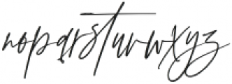 AnxietySignature otf (400) Font LOWERCASE