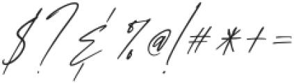 AnxietySignatureSlant otf (400) Font OTHER CHARS