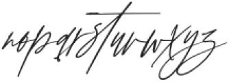 AnxietySignatureSlant otf (400) Font LOWERCASE