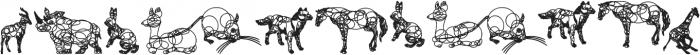 animaline ttf (400) Font LOWERCASE