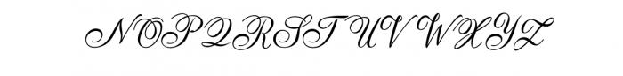 AnatomiaScript.otf Font UPPERCASE