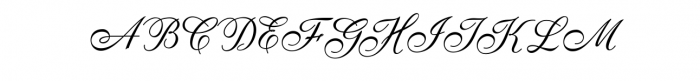 AnatomiaScript.ttf Font UPPERCASE