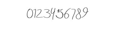 Aneisha Script.ttf Font OTHER CHARS