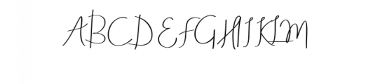 Aneisha Script.ttf Font UPPERCASE