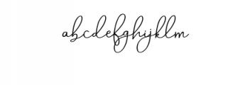Aneisha Script.ttf Font LOWERCASE