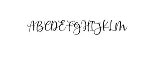 Angel Heart Script Font UPPERCASE