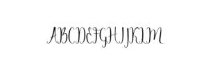 Angelica.otf Font UPPERCASE
