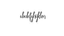 Angelica.ttf Font LOWERCASE