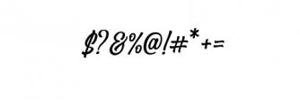 Angler  Font OTHER CHARS