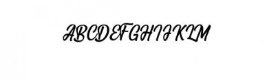Angler  Font UPPERCASE