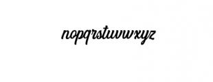 Angler  Font LOWERCASE