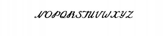 Annabel Script Typeface Font UPPERCASE