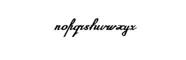 Annabel Script Typeface Font LOWERCASE