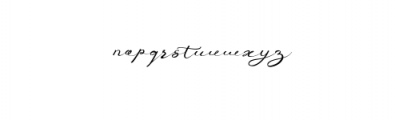 Anniversa Font LOWERCASE