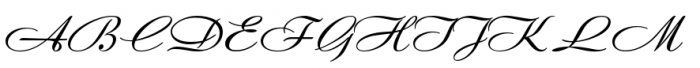 Andantino Font UPPERCASE