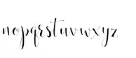 Annabella Regular Font LOWERCASE