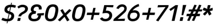 Anomoly Medium Italic Font OTHER CHARS