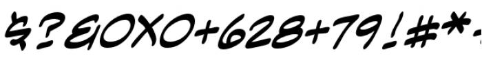 Anti Hero Intl BB Italic Font OTHER CHARS