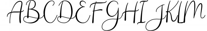 Andina - Modern Script Font Font UPPERCASE