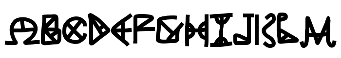 ANCIENT GREASE Font LOWERCASE