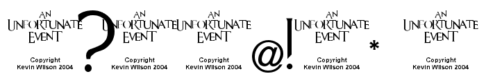 An Unfortunate Event Font OTHER CHARS