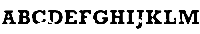 AnaEve Regular Font UPPERCASE