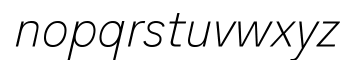 Analogue Reduced 36 Thin Oblique Font LOWERCASE
