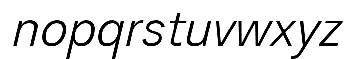 Analogue Reduced 46 Light Oblique Font LOWERCASE