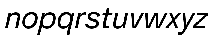Analogue Reduced 56 Oblique Font LOWERCASE