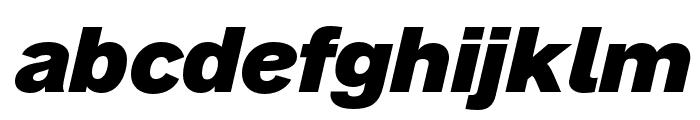 AnalogueReduced-BlackOblique Font LOWERCASE