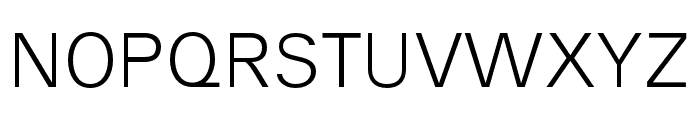 AnalogueReduced-Light Font UPPERCASE