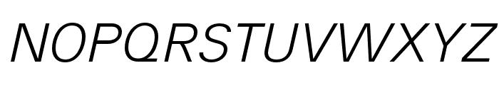 AnalogueReduced-LightOblique Font UPPERCASE