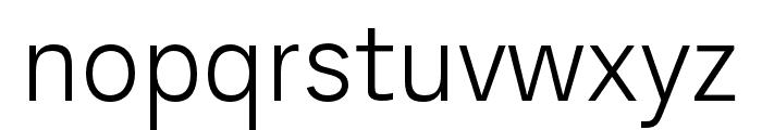 AnalogueReduced-Light Font LOWERCASE
