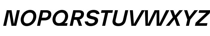 AnalogueReduced-MediumOblique Font UPPERCASE