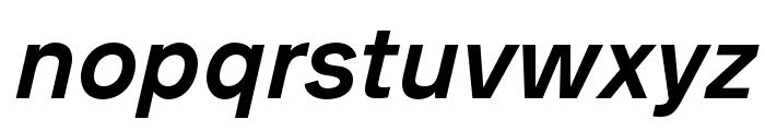 AnalogueReduced-MediumOblique Font LOWERCASE