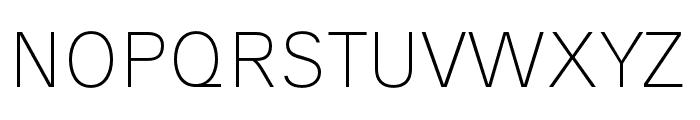 AnalogueReduced-Thin Font UPPERCASE