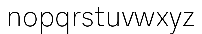 AnalogueReduced-Thin Font LOWERCASE