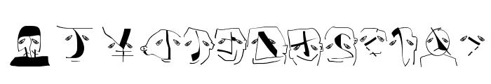 AnalphabetismBats Font UPPERCASE