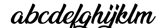 Ananda Black Font LOWERCASE