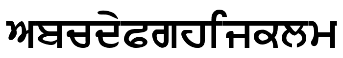 AnandpurSahib Bold Font LOWERCASE