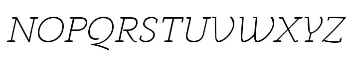 AnaphoraTrial-ExtraLightItalic Font UPPERCASE